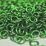 "1/4"", 16 Gauge (.047"") Green Jump Rings (1,000 Rings)"