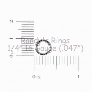 "1/4"", 16 Gauge (.047"") Red Jump Rings (300 Rings)"
