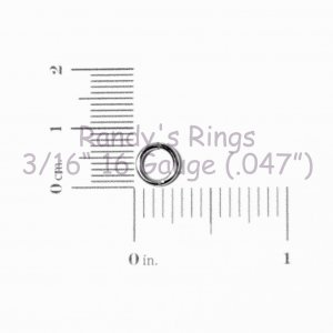 "3/16"", 16 Gauge (.047"") Blue Jump Rings (300 Rings)"